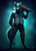 The Violinist by Lhuin
