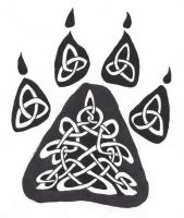 Celtic Wolf Paw Tattoo Design by M3rcuryDr4g0n