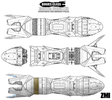 Bowes Class interstellar freighter by Evilonavich