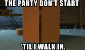 THE PARTY DONT START TILL I WALK IN by JackandBerrie101