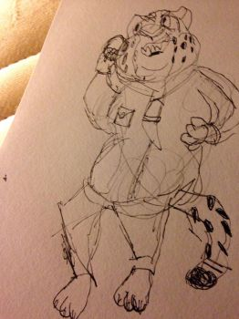 clawhauser doodle by antoxicmoth