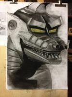 MechaGodzilla Charcoal by Boltax