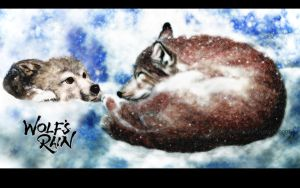 WolfS Rain Wallpaper by ZhaoT