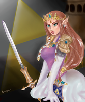 Princess Zelda by ClaireXFerron