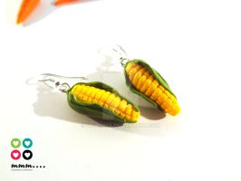 Corn earrings by Selmmma