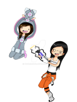 Portal Time with Cathy and Julia! by noomimono