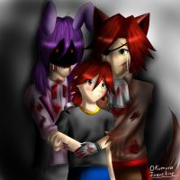 Bonnie x Foxy Family 2 by OkumuraJaqueline