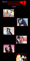 Top 10: The Most Hated Anime Couples by Japaneses by 3D4D