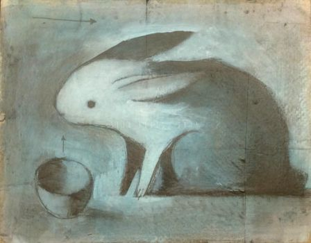 Rabbit with Cup (Blue) by SethFitts