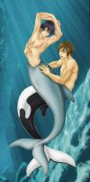 The Dolphin and The Orca by Aldric-Cheylan