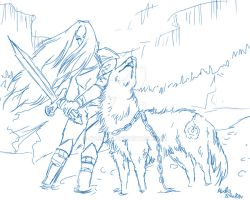 Howl to Battle - sketch by Narsilia