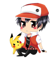 Trainer Red Chibi by Leefuu