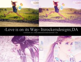 love is on its way action. by itsrockersdesigns