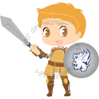 DAO Chibi, Series 1 - Alistair by Destined2Rock