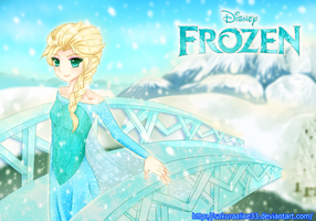 Disney's frozen Elsa by SakuraAlice33