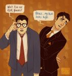 Bruce Kent and Clark Wayne by Vimeddiee