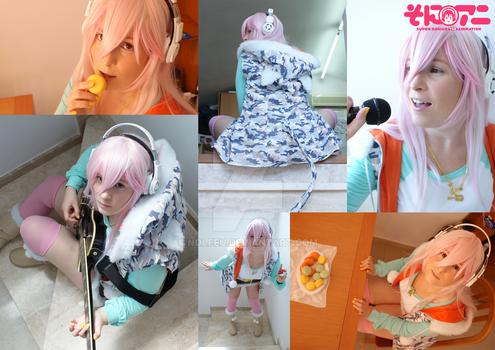 Super Sonico Collage by Noleeu