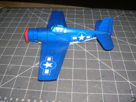 F6F hellcat paper model by falcon01