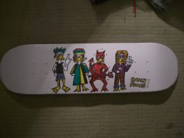 DUCK FACE series 1 skateboard deck 07 by ztenzila
