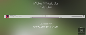 iWalker Music Bar CD Art Display Skin by MadushanWorks