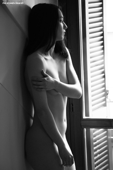Laura black and white glamour 02 by Darthsandr