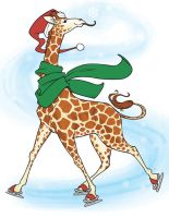 Holiday Giraffe 2010 by AmyClark
