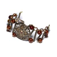 Amber steampunk Bracelet 2 by CatherinetteRings