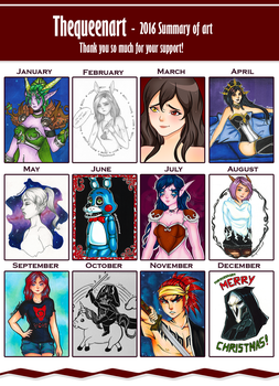 2016 summary of art by GR-the-queen