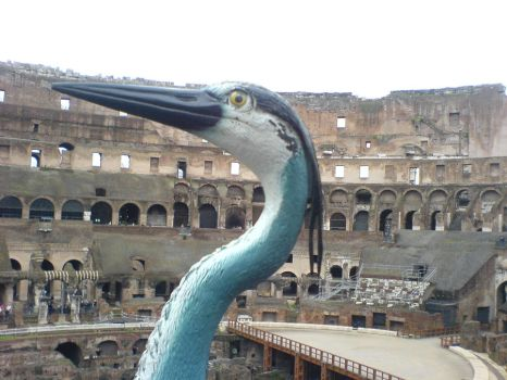 The Adventures of Harry the Heron - Rome, Italy by ColliFlower86