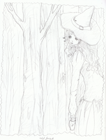 witch in the forest by sheepies