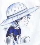 Monkey D. Luffy (BallPointPen) by passion00