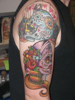 Sugar Skull Tattoo 01 by jlbryan