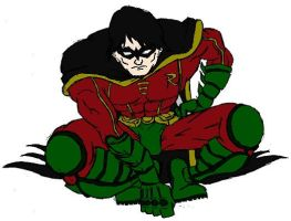 Teen Titans Robin Colored by Axel-Knight