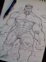 Hulk warm up sketch by DamageArts