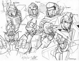 Random TFOC Head Sketches 2 by beamer
