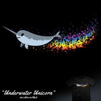 Underwater Unicorn - tee by InfinityWave