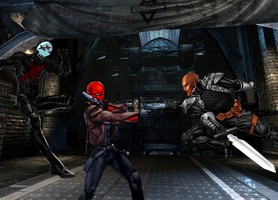 Red Hood VS DeathStroke VS Red X by Tony-Antwonio
