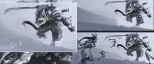 epic battle scetch 5 by BenedictWallace