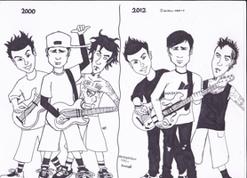 Blink-182 - Then and Now by x-Doll-Face-x