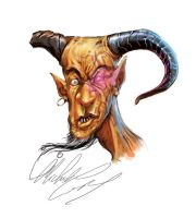 Lunch-Time-Sketches: Demon by MicheleGiorgi