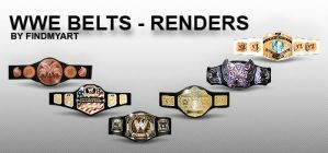 WWE BELTS - RENDERS by findmyart