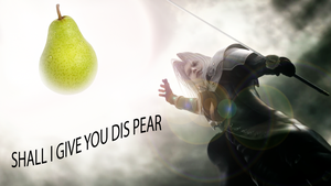 shall i give you dis pear by Charliemon