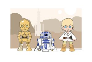 Luke and the Droids by Ryu-Ando