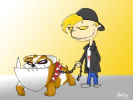 The boy and his dog by Ambair