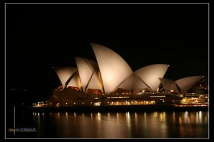 nights veiw of the Opera House by maxisoft