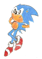 Sonic Drawing 4 Colored by namatamiku