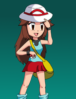 Pokemon Trainer Leaf by sketchinnegro