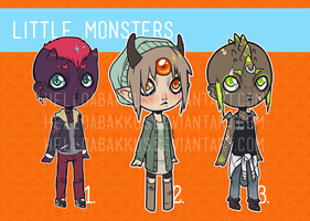 [ALL SOLD] little monsters adopts - batch 2 by helloabakkus