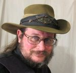 Aussie Hat with Blue Leather and Copper Hatband 1a by Windthin