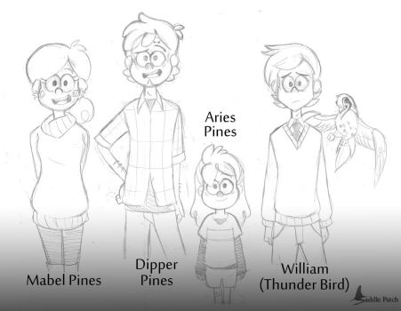 Gravity Falls: Next Gen Characters by SaddlePatch